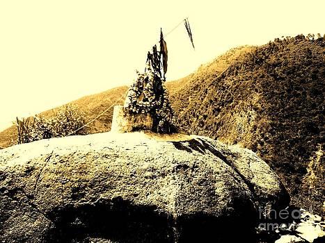 God on the rock by Hari Om Prakash
