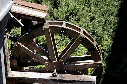 LeeAnn McLaneGoetz McLaneGoetzStudioLLCcom - Gold mining Water Wheel Virginia City Nevada