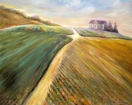 Golden fields by Bonnie Goedecke