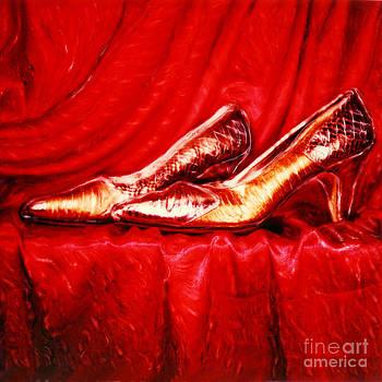 Renata Ratajczyk - Golden Shoes - Pholaroid SX-70