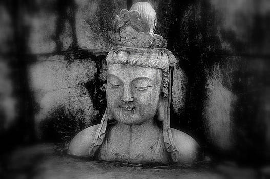 Grayscale Budda by Tom Page