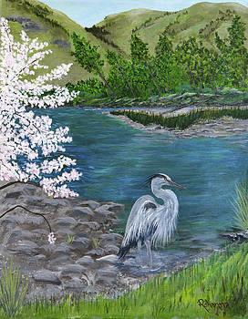Great Blue Heron by Judy M Watts-Rohanna