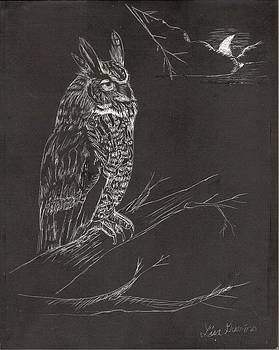 Great Horned Owl by Lisa Guarino