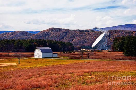 Kathleen K Parker - Green Bank Telescope and the White Barn
