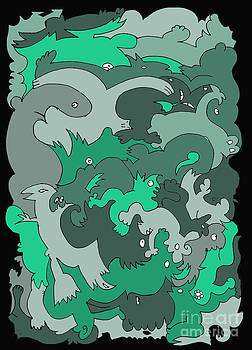 Barbara Marcus - Green Creatures