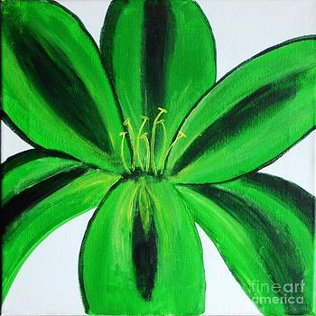 Green lily by Dawn Plyler