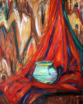 Green Pot Still-life by Hannah Curran