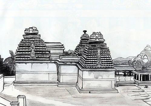 Group of Jain Temples Hampi by Shashi Kumar