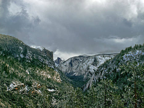 Half Dome Yosemite in the clouds Larry Darnell by Larry Darnell