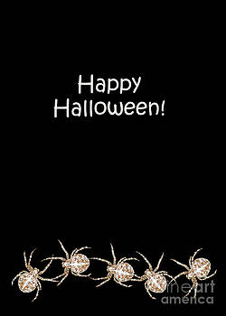 Halloween Greetings. Spider Party Series #03 by Ausra Huntington nee Paulauskaite