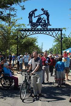 Handcart dedication by Steve Mudge