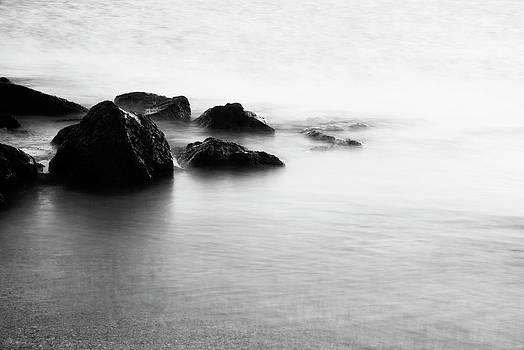 Charmian Vistaunet - Harbor Rocks and Misty Ocean I