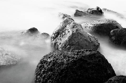 Charmian Vistaunet - Harbor Rocks and Misty Ocean II