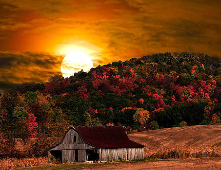 Randall Branham - harvest moon and barn rt 41