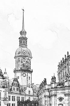 Christine Till - Hausmannsturm in Dresden Germany