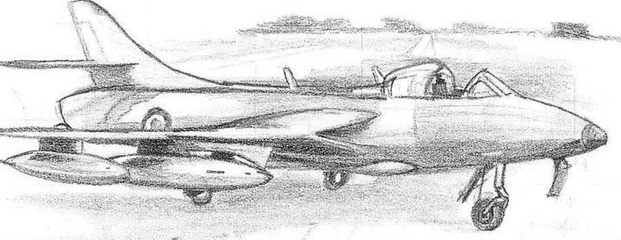 Hawker Hunter  by Danish Anwer