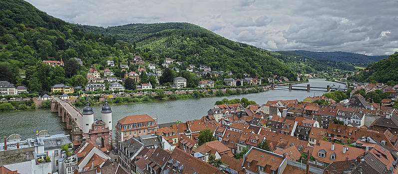Heidelberg and Neckar river view by Travel Images Worldwide