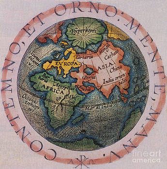 Photo Researchers - Hemispherical World Map, 1601