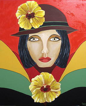 Hibiscus Lady by Susan McLean Gray