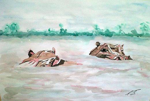 Hippopotamus I. by Paula Steffensen