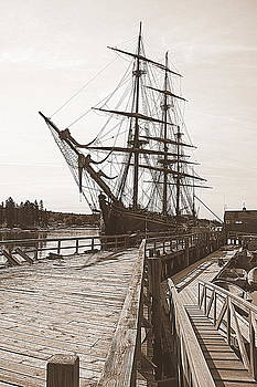 HMS Bounty At The Dock by Doug Mills