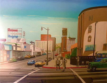 Hollywood and Vine 1955 by Greg Coffelt