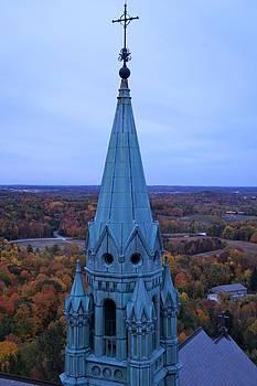 Holy Hill Steeple  by Kristine Bogdanovich