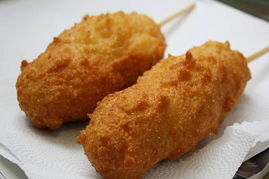Anne Babineau - homemade corn dogs