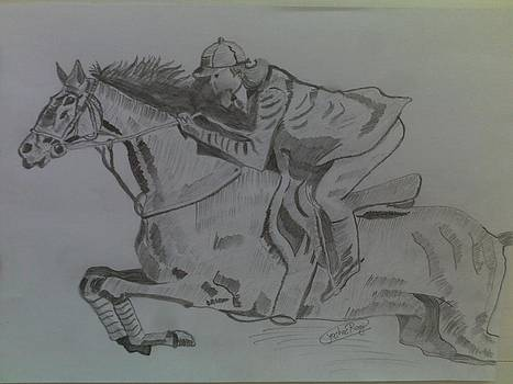 Horse In Action.. by Rocky Malhotra