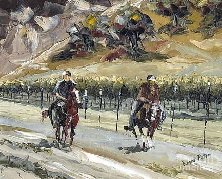 Horsemen by Dumba Peter