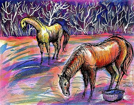 Ion vincent DAnu - Horses autumn morning
