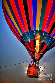 Hot Air Balloon Fire by Jeanne  Woods