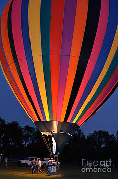 Hot Air Balloon Glow by Jeanne  Woods