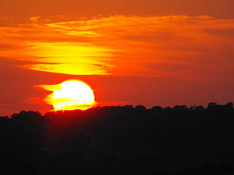 Hot August Sunset In Texas by Rebecca Cearley