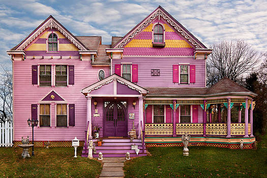 Mike Savad - House - Victorian - I love bright colors