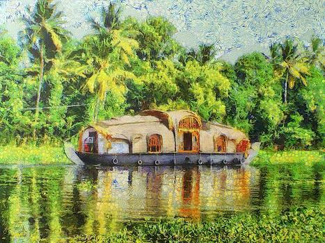 Houseboat by Balram Panikkaserry