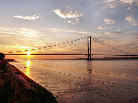 Humber Bridge Sunset by Sarah Couzens