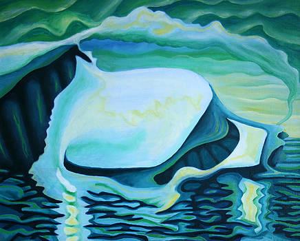 Icebergia Triptych 1 by Graham Matthews