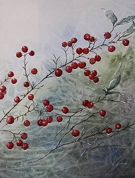 Iced Holly by Patsy Sharpe