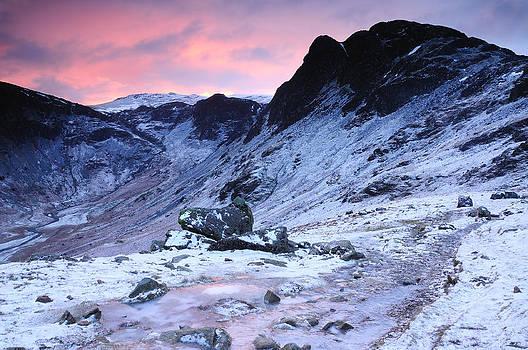 Icy Dawn Haystacks by Stewart Smith