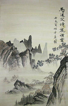 Imitation Chinese ancient painting by Jason Zhang
