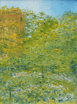 Impasto trees by Joan Putnam