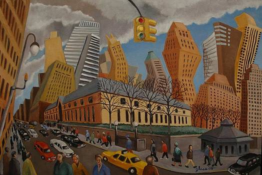 Impression Bryant Square NYC by Lester Glass