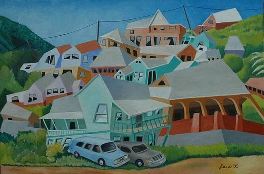 Impression Hillside Houses by Lester Glass