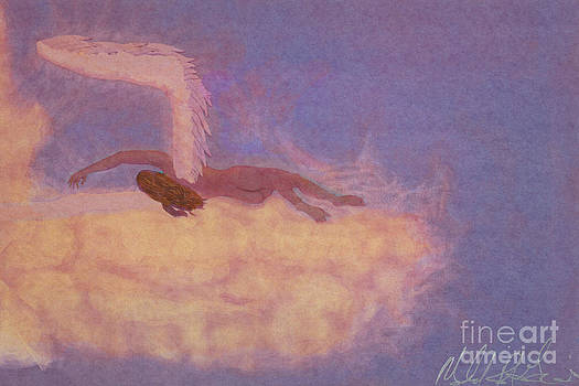 In Ecstasy She Fans The Clouds by M R Garcia