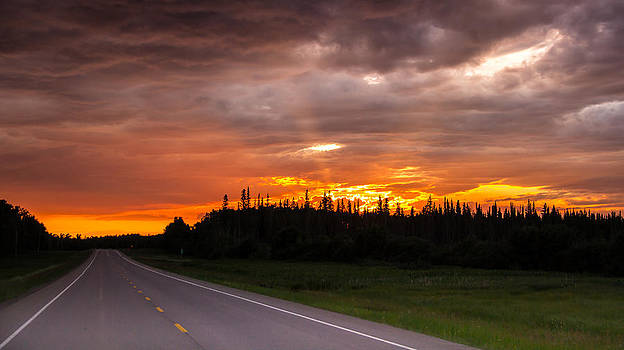 In to the sunset by Darren Langlois