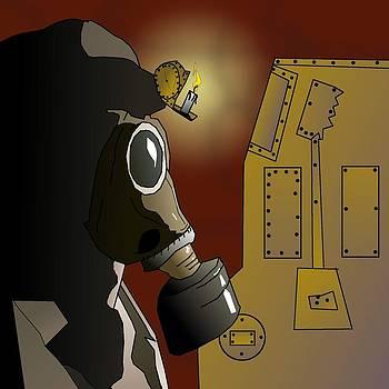 Indoor Steampunk Slots Machine by Casino Artist