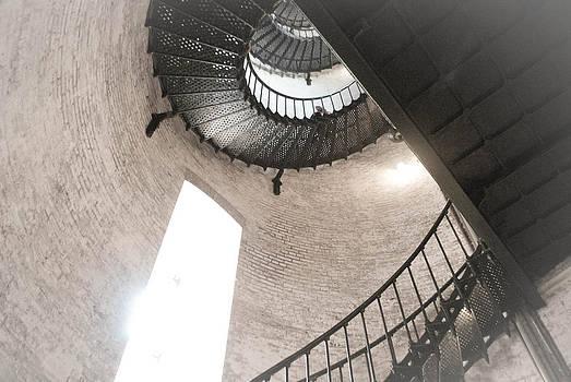 Inside Currituck Lighthouse by Julie Strickland