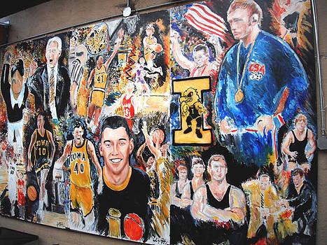 Jon Baldwin  Art - Iowa Hawkeye Mural Front Row Windsor Heights IA