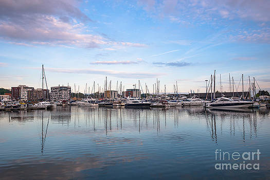 Ipswich Marina dusk by Andrew  Michael